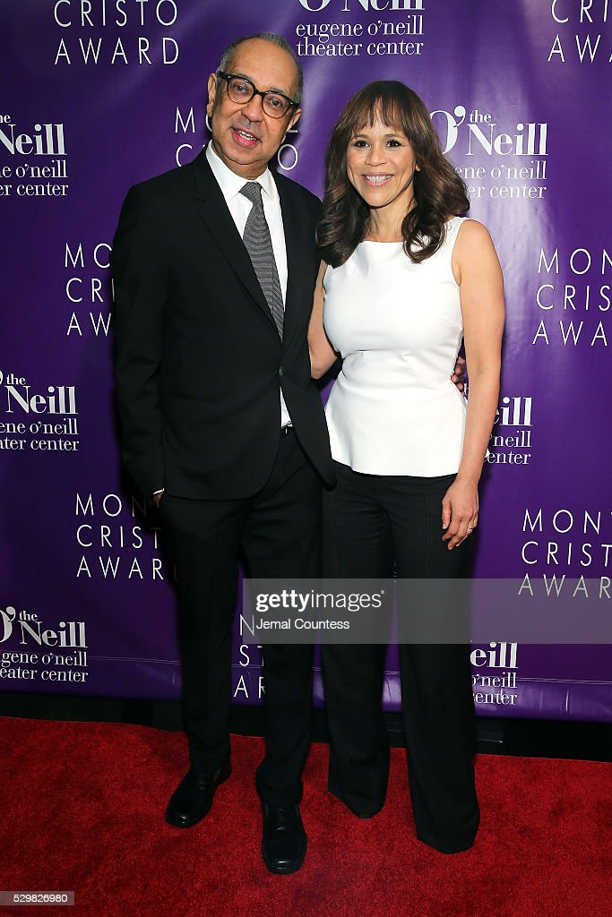 Honoree George C Wolfe and Rosie Perez attend the 16th Annual Monte Cristo Award ceremony honoring George C Wolfe presented by The Eugene O'Neill...