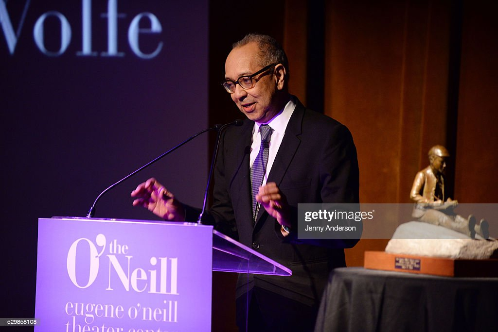 Honoree George C Wolfe speaks onstage at the 16th Annual Monte Cristo Award ceremony honoring George C Wolfe presented by The Eugene O'Neill Theater...