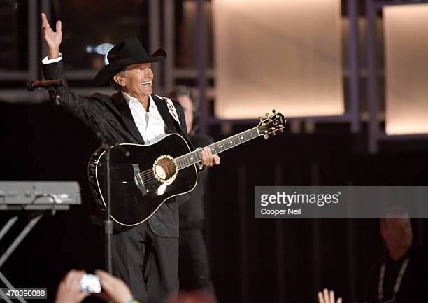 Honoree George Strait accepts the 50th Anniversary Milestone Award onstage during the 50th Academy of Country Music Awards at ATT Stadium on April 19...