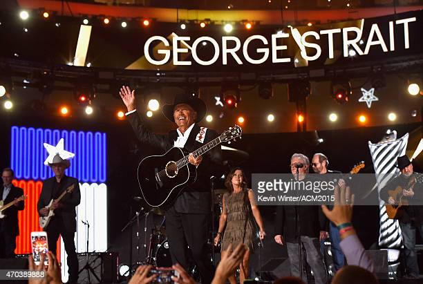 Honoree George Strait performs onstage during the 50th Academy of Country Music Awards at ATT Stadium on April 19 2015 in Arlington Texas