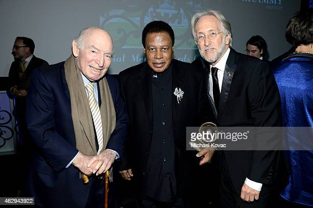 Honoree George Wein honoree Wayne Shorter and President/CEO of The Recording Academy and GRAMMY Foundation President/CEO Neil Portnow attend The 57th...
