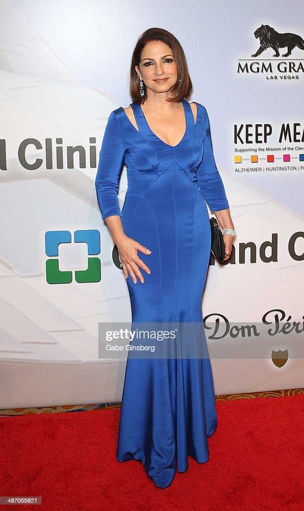 Honoree <a gi-track='captionPersonalityLinkClicked' href=/galleries/search?phrase=Gloria+Estefan&family=editorial&specificpeople=201703 ng-click='$event.stopPropagation()'>Gloria Estefan</a> attends the 18th annual Keep Memory Alive 'Power of Love Gala' benefit for the Cleveland Clinic Lou Ruvo Center for Brain Health honoring <a gi-track='captionPersonalityLinkClicked' href=/galleries/search?phrase=Gloria+Estefan&family=editorial&specificpeople=201703 ng-click='$event.stopPropagation()'>Gloria Estefan</a> and Emilio Estefan Jr. at the MGM Grand Garden Arena on April 26, 2014 in Las Vegas, Nevada.