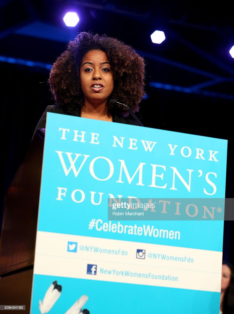 Honoree Gloria Malone speaks on stage during The New York Women's Foundation's 2016 celebration womens breakfast on May 5, 2016 in New York City.