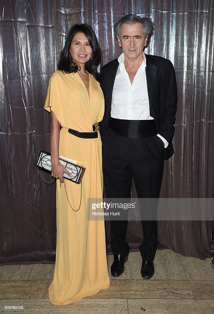 Honoree Goga Ashkenazi and Event Chair Bernard HenriLevy attend the Foundation Fighting Blindness World Gala at Cipriani 42nd Street on April 12 2016...