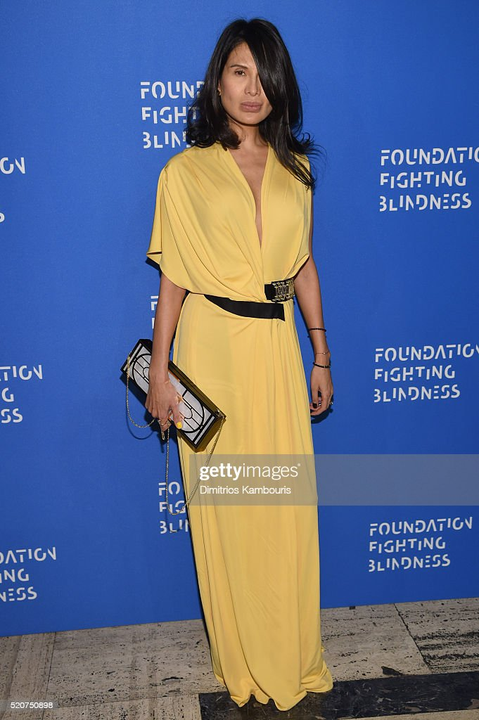 Honoree Goga Ashkenazi attends the Foundation Fighting Blindness World Gala at Cipriani 42nd Street on April 12 2016 in New York City