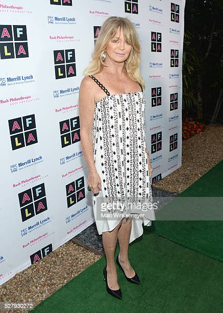 Honoree Goldie Hawn attends Russell Simmons' Rush Philanthropic Arts Foundation's inaugural Art For Life Los Angeles at Private Residence on May 3...