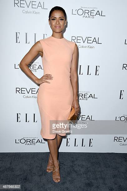 Honoree Gugu MbathaRaw attends the 2014 ELLE Women In Hollywood Awards at the Four Seasons Hotel on October 20 2014 in Beverly Hills California
