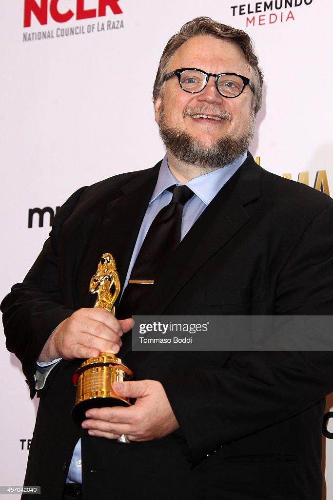 Honoree Guillermo del Toro poses in the Press Room at the 2014 NCLR ALMA Awards at Pasadena Civic Auditorium on October 10 2014 in Pasadena California