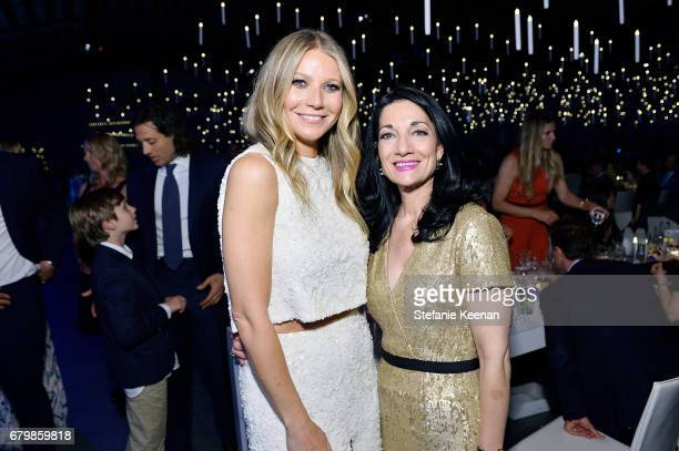 Honoree Gwyneth Paltrow and CEO of UCLA Hospital System Johnese Spisso attend UCLA Mattel Children's Hospital presents Kaleidoscope 5 on May 6 2017...