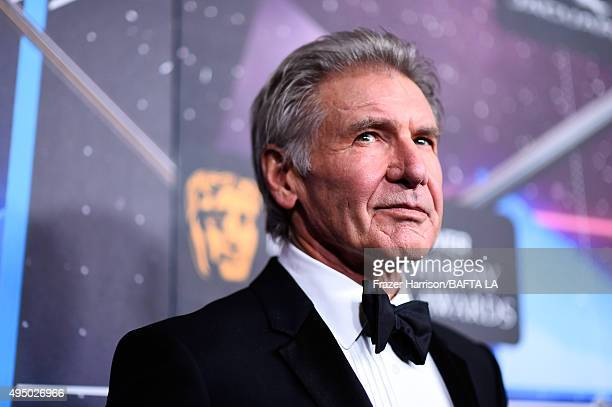 Honoree Harrison Ford attends the 2015 Jaguar Land Rover British Academy Britannia Awards presented by American Airlines at The Beverly Hilton Hotel...