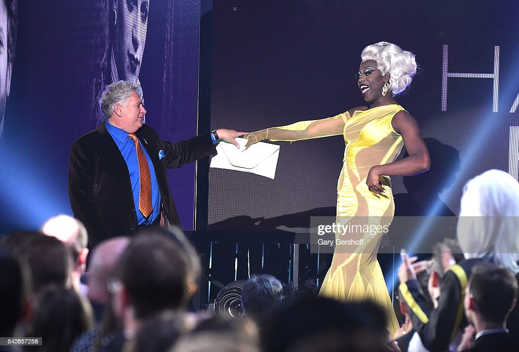 Honoree Harvey Fierstein and Bob the Drag Queen speak at the 2016 Logo's Trailblazer Honors at Cathedral of St John the Divine on June 23 2016 in New...