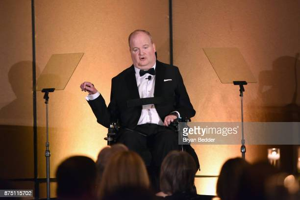 Honoree Henry G Stifel III speaks onstage during 'A Magical Evening' Gala hosted by The Christopher Dana Reeve Foundation a at Conrad Hotel on...