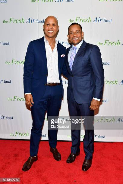 Honoree Hill Harper and Richard D Thomas attend the 2017 Fresh Air Fund Spring Benefit at Pier Sixty at Chelsea Piers on June 1 2017 in New York City