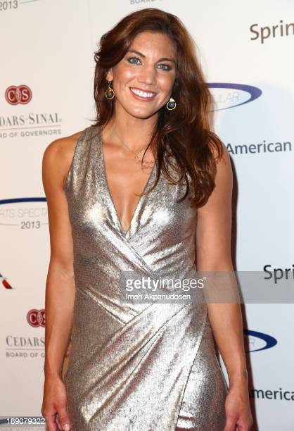 Honoree Hope Solo attends the 28th Anniversary Sports Spectacular Gala at the Hyatt Regency Century Plaza on May 19 2013 in Century City California