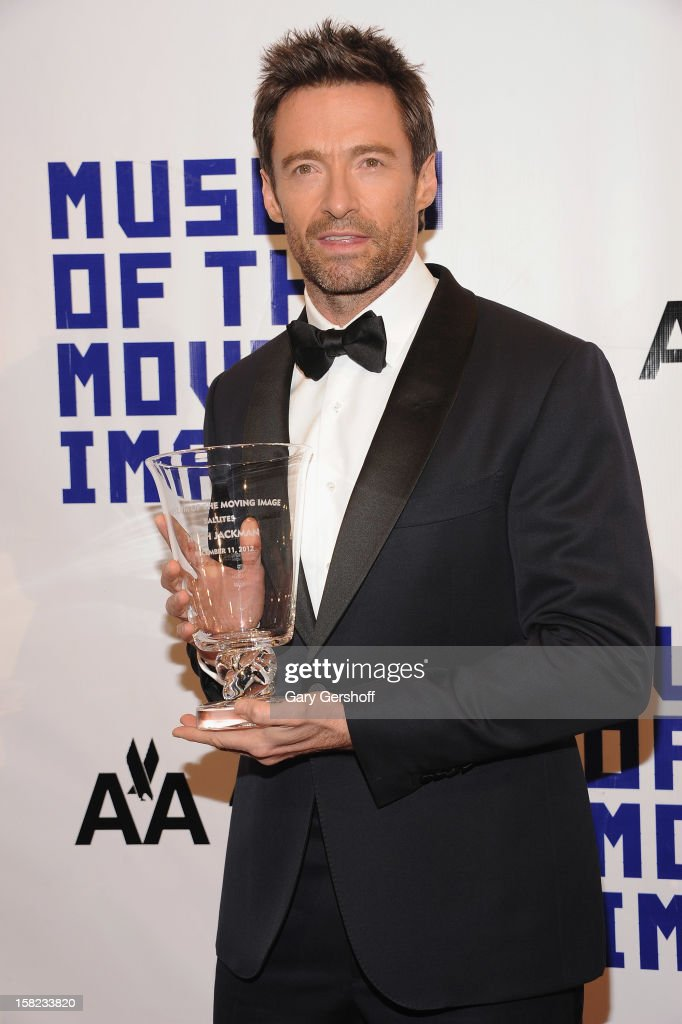 Honoree <a gi-track='captionPersonalityLinkClicked' href=/galleries/search?phrase=Hugh+Jackman&family=editorial&specificpeople=202499 ng-click='$event.stopPropagation()'>Hugh Jackman</a> attends the Museum Of Moving Image Salute To <a gi-track='captionPersonalityLinkClicked' href=/galleries/search?phrase=Hugh+Jackman&family=editorial&specificpeople=202499 ng-click='$event.stopPropagation()'>Hugh Jackman</a> at Cipriani Wall Street on December 11, 2012 in New York City.