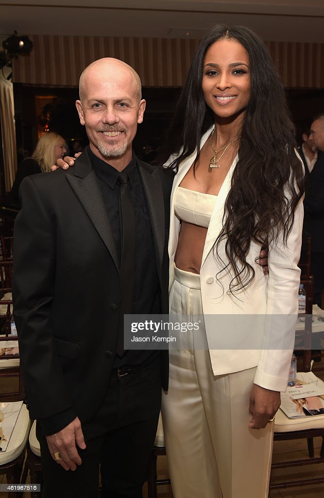Honoree Italo Zucchelli and singer/songwriter Ciara attend The DAILY FRONT ROW 'Fashion Los Angeles Awards' Show at Sunset Tower on January 22 2015...