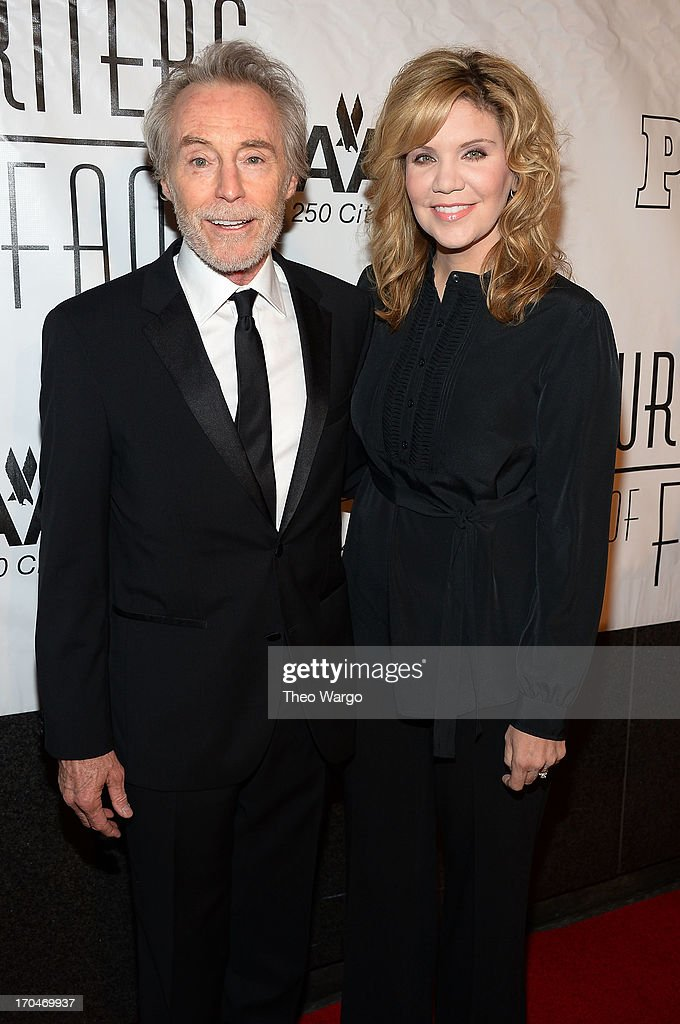 Honoree J. D. Souther (L) and singer/songwriter <a gi-track='captionPersonalityLinkClicked' href=/galleries/search?phrase=Alison+Krauss&family=editorial&specificpeople=203194 ng-click='$event.stopPropagation()'>Alison Krauss</a> attend the Songwriters Hall of Fame 44th Annual Induction and Awards Dinner at the New York Marriott Marquis on June 13, 2013 in New York City.