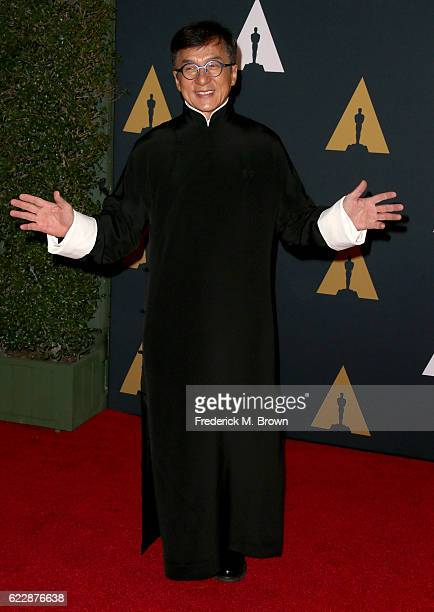 Honoree Jackie Chan attends the Academy of Motion Picture Arts And Sciences' 8th annual Governors Awards at The Ray Dolby Ballroom at Hollywood...