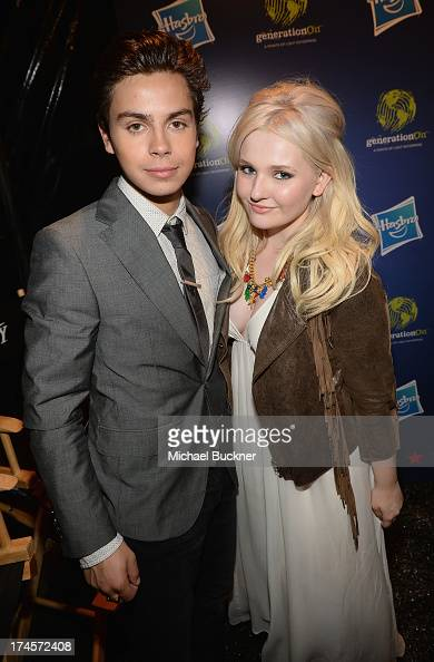 Honoree Jake T Austin and actress Abigail Breslin attend Variety's Power of Youth presented by Hasbro Inc and generationOn at Universal Studios...