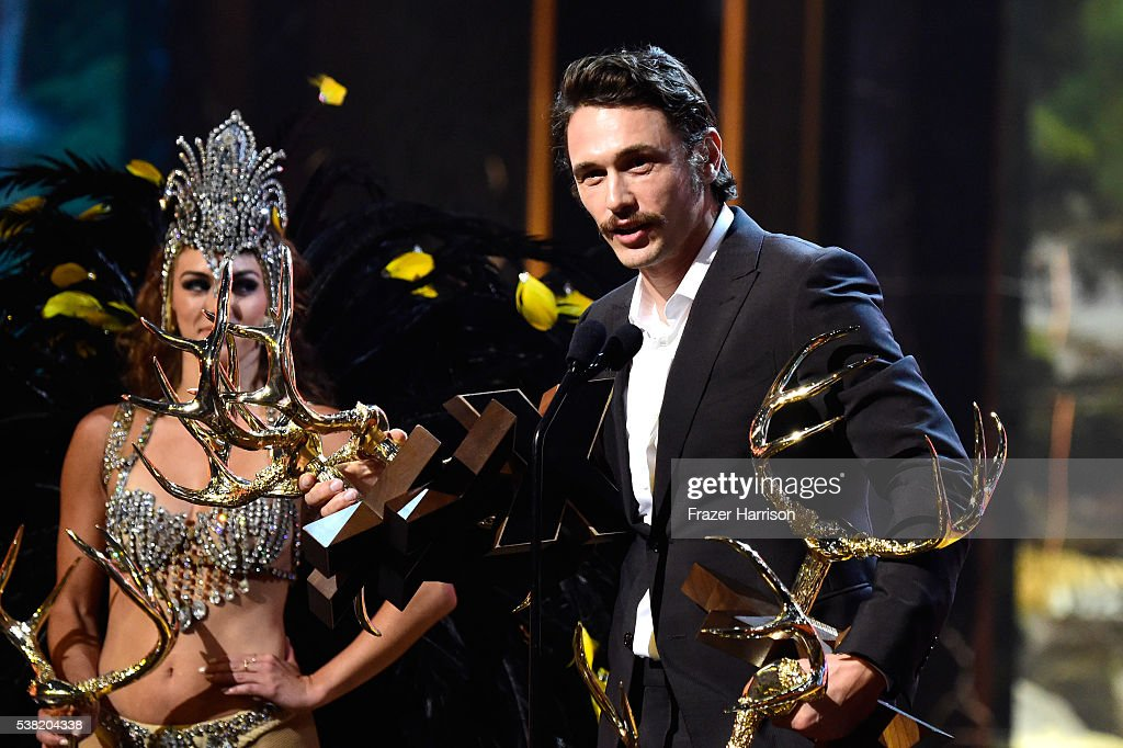 Honoree James Franco accepts Virtuoso awards onstage during Spike TV's 10th Annual Guys Choice Awards at Sony Pictures Studios on June 4, 2016 in Culver City, California.
