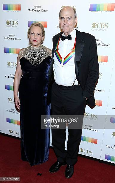 Honoree James Taylor and Caroline Smedvig arrive at the 39th Annual Kennedy Center Honors at The Kennedy Center on December 4 2016 in Washington DC