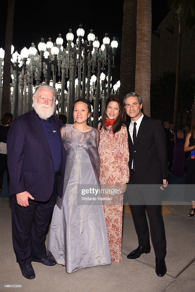 Honoree James Turrell and guests attend LACMA 2015 ArtFilm Gala Honoring James Turrell and Alejandro G Iñárritu Presented by Gucci at LACMA on...