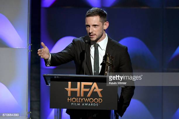 Honoree Jamie Bell accepts the New Hollywood Actor Award for 'Film Stars Don't Die in Liverpool' onstage during the 21st Annual Hollywood Film Awards...