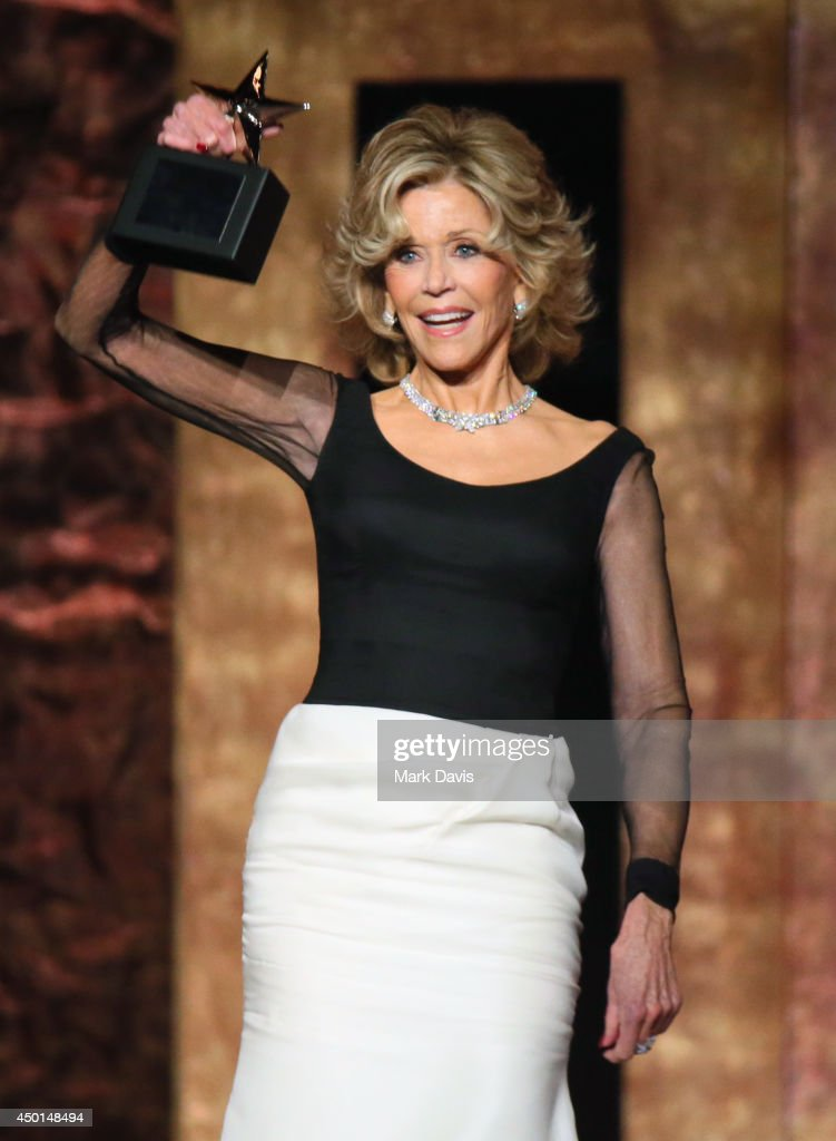 Honoree Jane Fonda accepts the AFI Life Achievement Award onstage at the 2014 AFI Life Achievement Award: A Tribute to Jane Fonda at the Dolby Theatre on June 5, 2014 in Hollywood, California. Tribute show airing Saturday, June 14, 2014 at 9pm ET/PT on TNT.