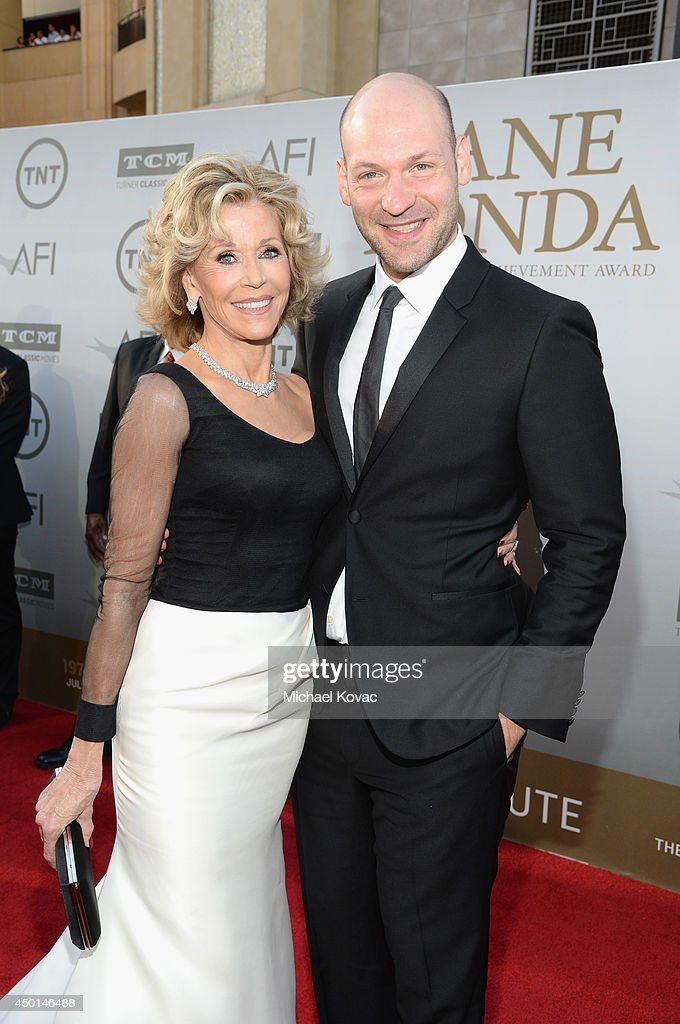 Honoree Jane Fonda (L) and actor Corey Stoll attend the 2014 AFI Life Achievement Award: A Tribute to Jane Fonda at the Dolby Theatre on June 5, 2014 in Hollywood, California. Tribute show airing Saturday, June 14, 2014 at 9pm ET/PT on TNT.