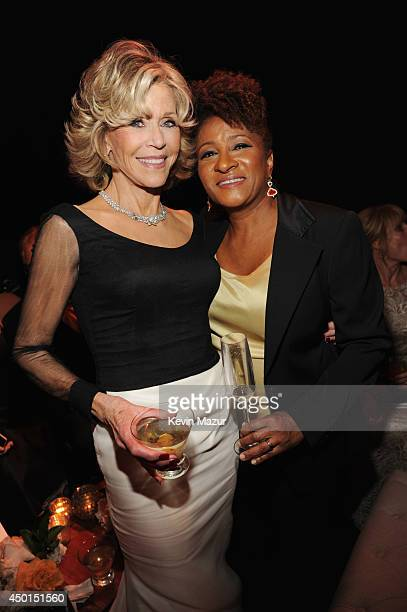 Honoree Jane Fonda and comedian Wanda Sykes attend the 2014 AFI Life Achievement Award A Tribute to Jane Fonda after party at the Dolby Theatre on...