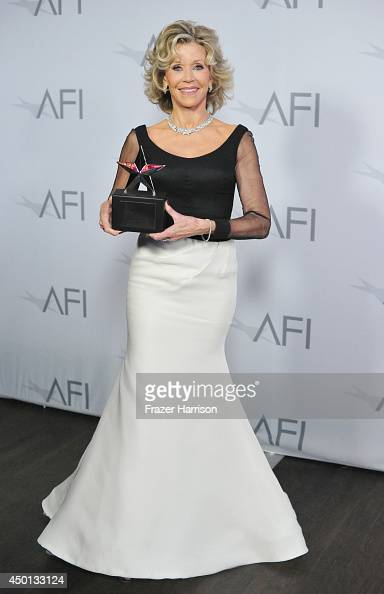Honoree Jane Fonda attends the 2014 AFI Life Achievement Award A Tribute to Jane Fonda at the Dolby Theatre on June 5 2014 in Hollywood California...