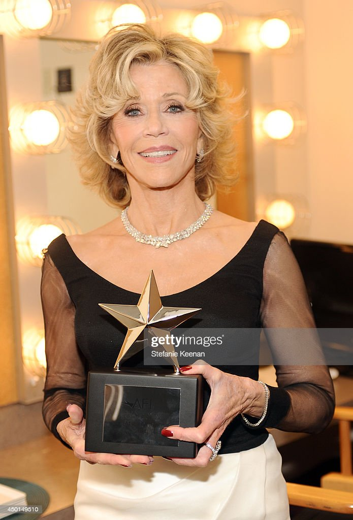 Honoree <a gi-track='captionPersonalityLinkClicked' href=/galleries/search?phrase=Jane+Fonda&family=editorial&specificpeople=202174 ng-click='$event.stopPropagation()'>Jane Fonda</a> backstage during the 2014 AFI Life Achievement Award: A Tribute to <a gi-track='captionPersonalityLinkClicked' href=/galleries/search?phrase=Jane+Fonda&family=editorial&specificpeople=202174 ng-click='$event.stopPropagation()'>Jane Fonda</a> at the Dolby Theatre on June 5, 2014 in Hollywood, California. Tribute show airing Saturday, June 14, 2014 at 9pm ET/PT on TNT.