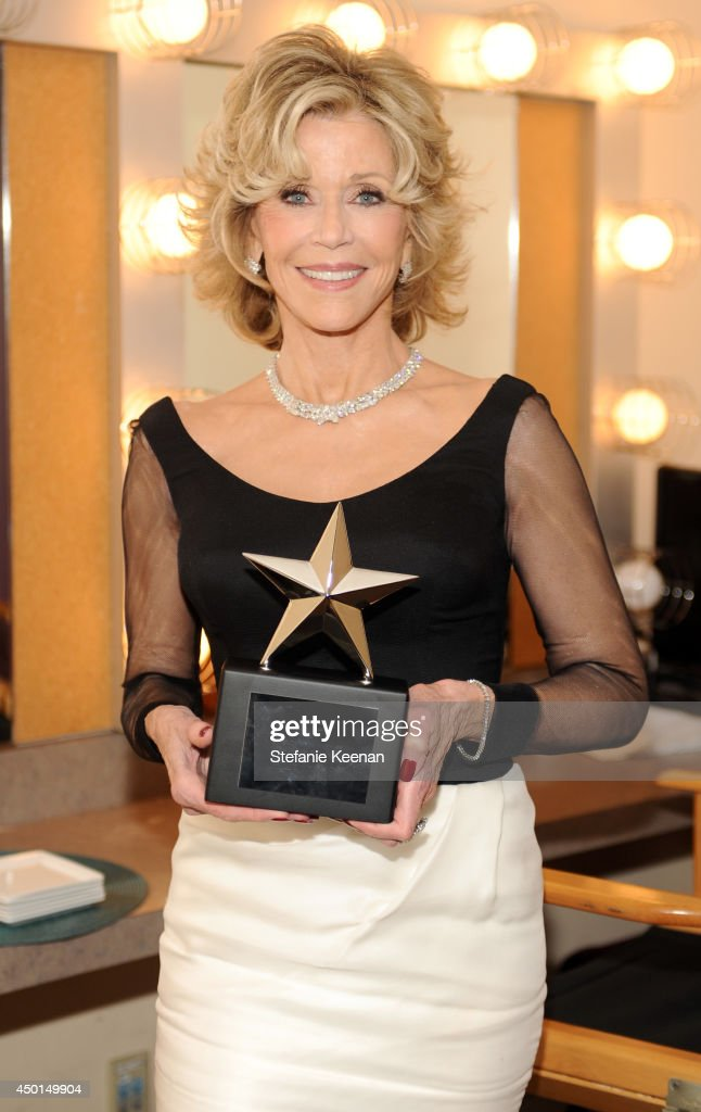 Honoree Jane Fonda backstage during the 2014 AFI Life Achievement Award: A Tribute to Jane Fonda at the Dolby Theatre on June 5, 2014 in Hollywood, California. Tribute show airing Saturday, June 14, 2014 at 9pm ET/PT on TNT.