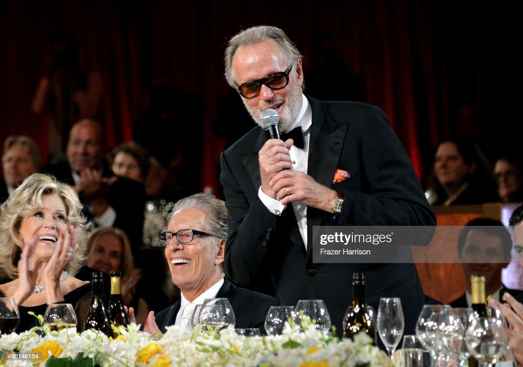 Honoree Jane Fonda, music producer Richard Perry, and actor Peter Fonda attend the 2014 AFI Life Achievement Award: A Tribute to Jane Fonda at the Dolby Theatre on June 5, 2014 in Hollywood, California. Tribute show airing Saturday, June 14, 2014 at 9pm ET/PT on TNT.