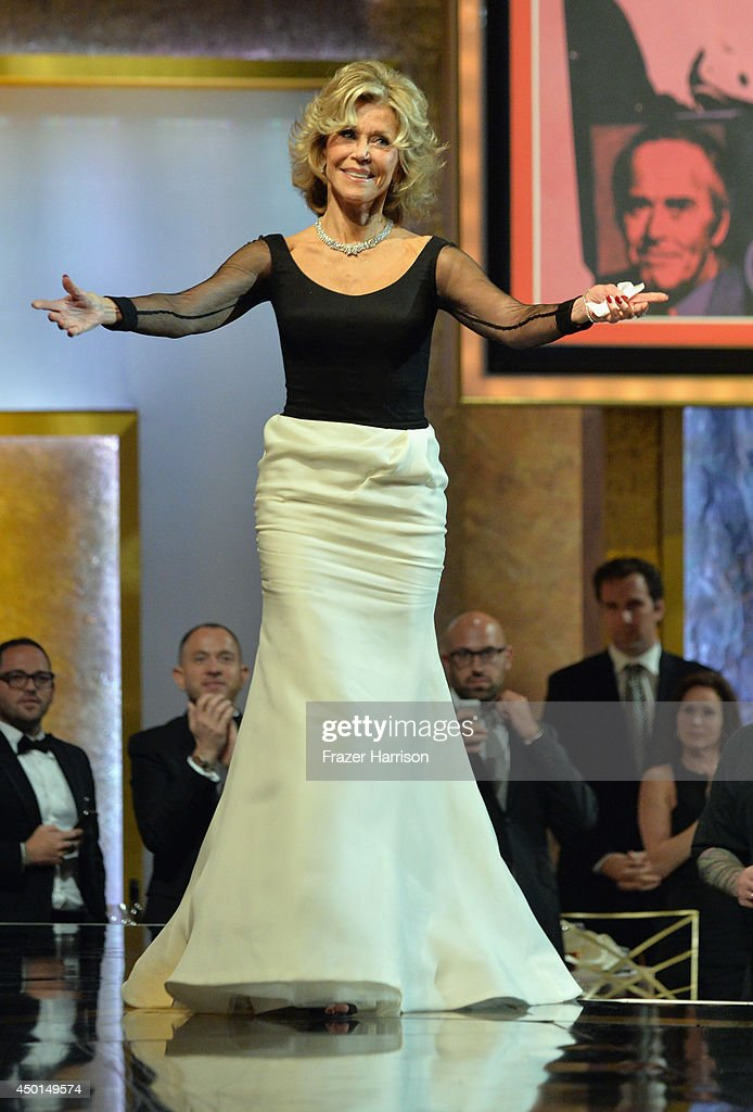Honoree <a gi-track='captionPersonalityLinkClicked' href=/galleries/search?phrase=Jane+Fonda&family=editorial&specificpeople=202174 ng-click='$event.stopPropagation()'>Jane Fonda</a> walks onstage at the 2014 AFI Life Achievement Award: A Tribute to <a gi-track='captionPersonalityLinkClicked' href=/galleries/search?phrase=Jane+Fonda&family=editorial&specificpeople=202174 ng-click='$event.stopPropagation()'>Jane Fonda</a> at the Dolby Theatre on June 5, 2014 in Hollywood, California. Tribute show airing Saturday, June 14, 2014 at 9pm ET/PT on TNT.