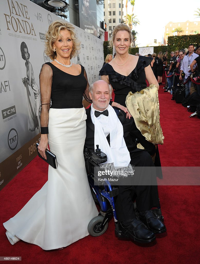 Honoree Jane Fonda, writer Ron Kovic and Perriann Ferren attend the 2014 AFI Life Achievement Award: A Tribute to Jane Fonda at the Dolby Theatre on June 5, 2014 in Hollywood, California. Tribute show airing Saturday, June 14, 2014 at 9pm ET/PT on TNT.