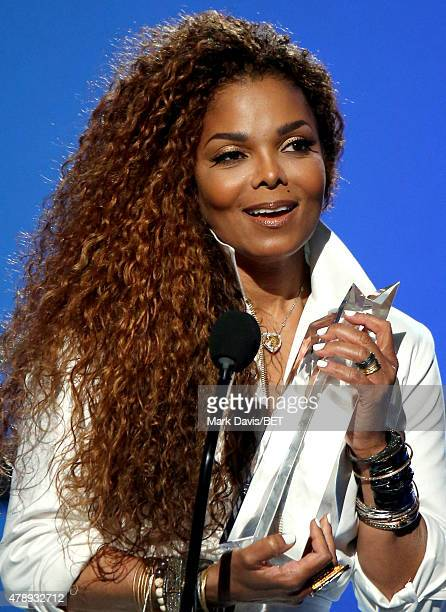 Honoree Janet Jackson accepts the Ultimate Icon Award onstage during the 2015 BET Awards at the Microsoft Theater on June 28 2015 in Los Angeles...