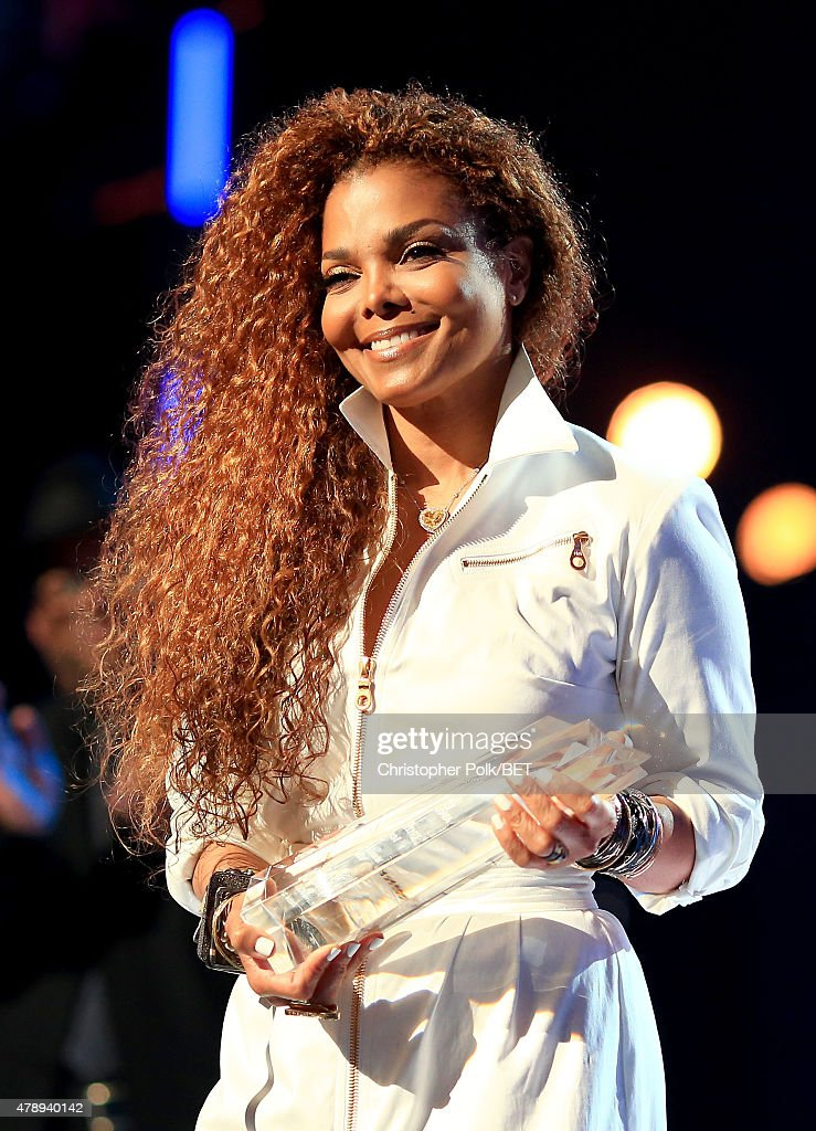 Honoree Janet Jackson accepts the Ultimate Icon: Music Dance Visual Award onstage during the 2015 BET Awards at the Microsoft Theater on June 28, 2015 in Los Angeles, California.