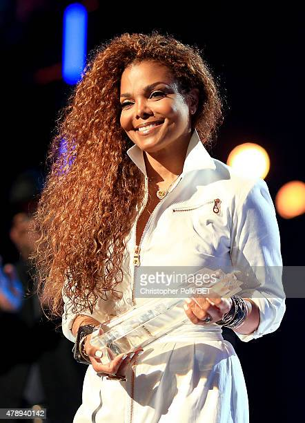 Honoree Janet Jackson accepts the Ultimate Icon Music Dance Visual Award onstage during the 2015 BET Awards at the Microsoft Theater on June 28 2015...