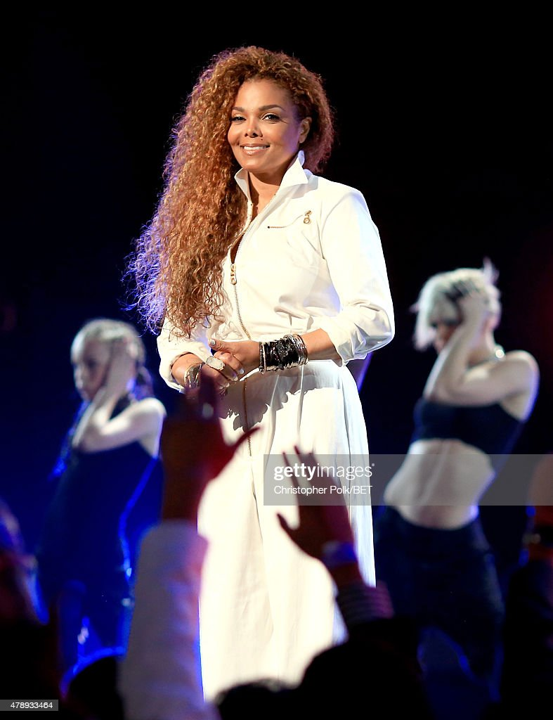 Honoree <a gi-track='captionPersonalityLinkClicked' href=/galleries/search?phrase=Janet+Jackson&family=editorial&specificpeople=156414 ng-click='$event.stopPropagation()'>Janet Jackson</a> performs onstage during the 2015 BET Awards at the Microsoft Theater on June 28, 2015 in Los Angeles, California.
