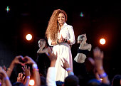 Honoree Janet Jackson performs onstage during the 2015 BET Awards at the Microsoft Theater on June 28 2015 in Los Angeles California