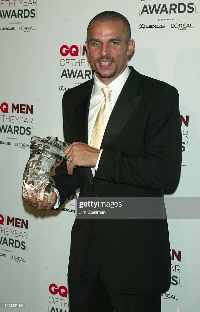 Honoree <a gi-track='captionPersonalityLinkClicked' href=/galleries/search?phrase=Jason+Kidd&family=editorial&specificpeople=201560 ng-click='$event.stopPropagation()'>Jason Kidd</a> during 2002 GQ Men of the Year Awards - Press Room at Hammerstein Ballroom in New York City, New York, United States.