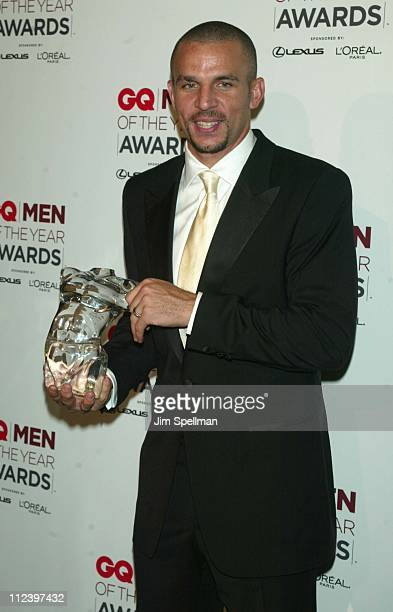 Honoree Jason Kidd during 2002 GQ Men of the Year Awards Press Room at Hammerstein Ballroom in New York City New York United States