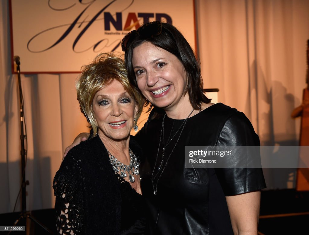 Honoree Jeannie Seely and Senior Vice President of Programming and Artist Relations - Grand Ole Opry Sally Williams attend the 2017 NATD Honors Gala at Hermitage Hotel on November 14, 2017 in Nashville, Tennessee.