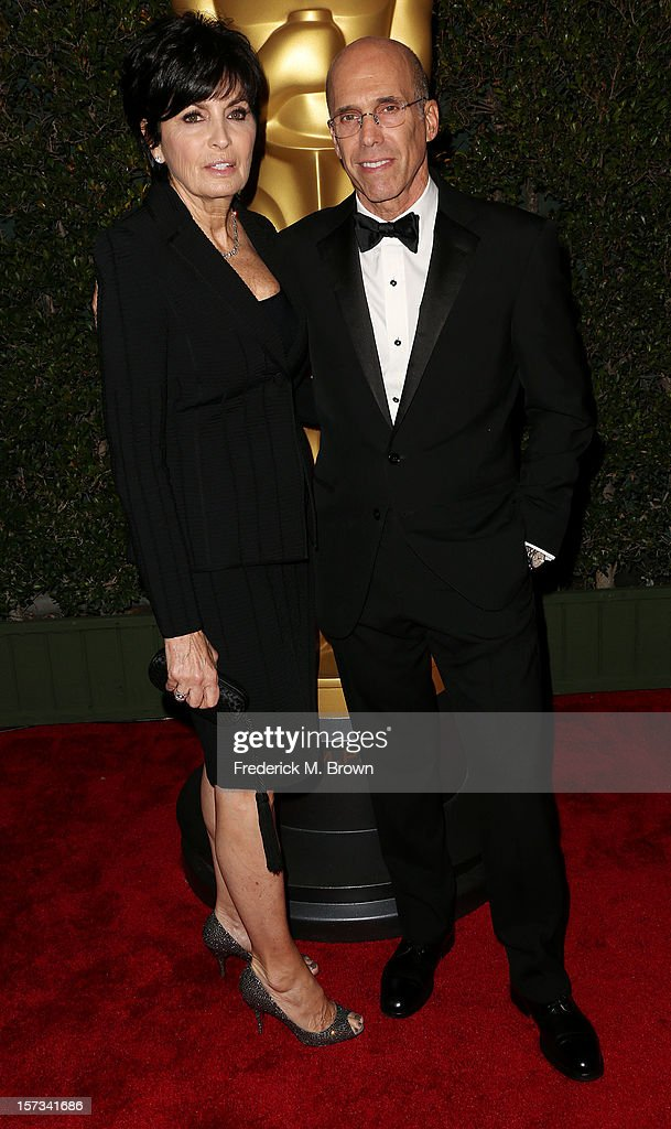 Honoree Jeffrey Katzenberg (R) and his wife Marylin Katzenberg attend the Academy Of Motion Picture Arts And Sciences' 4th Annual Governors Awards at Hollywood and Highland on December 1, 2012 in Hollywood, California.