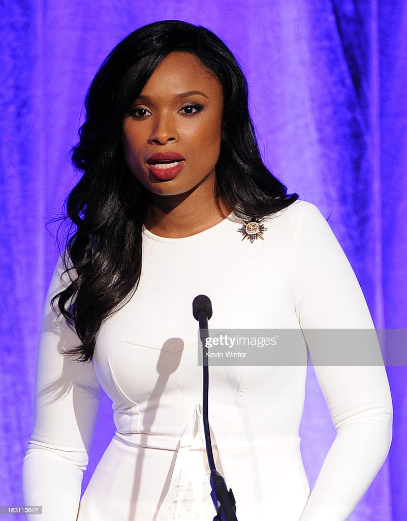 Honoree Jennifer Hudson accepts the Samsung Impact Award onstage during Variety's 5th Annual Power of Women event presented by Lifetime at the Beverly Wilshire Four Seasons Hotel on October 4, 2013 in Beverly Hills, California.