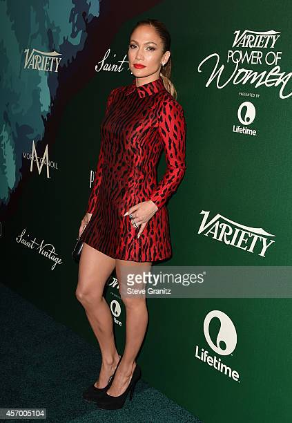 Honoree Jennifer Lopez attends the 2014 Variety Power of Women presented by Lifetime at Beverly Wilshire Four Seasons on October 10 2014 in Los...