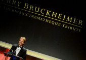 Honoree Jerry Bruckheimer accepts his American Cinematheque Award onstage during the 27th American Cinematheque Award honoring Jerry Bruckheimer at...