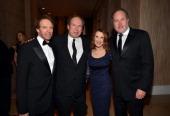 Honoree Jerry Bruckheimer composter Hans Zimmer Linda Bruckheimer and Jon Turteltaub attend the 27th American Cinematheque Award honoring Jerry...