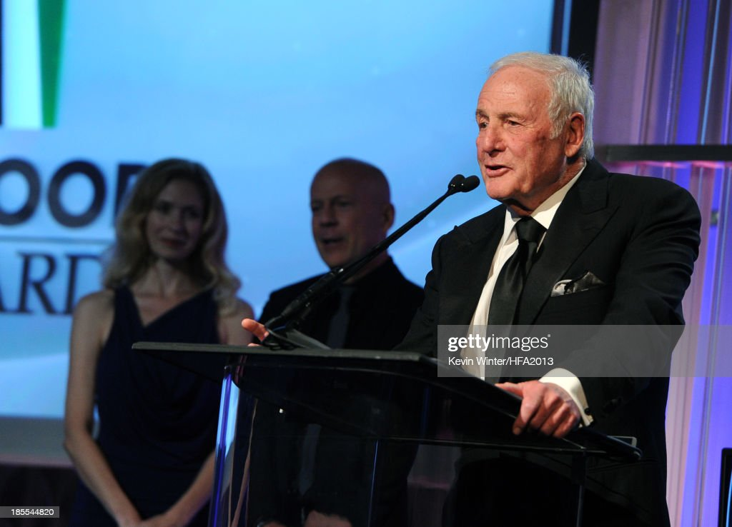 Honoree <a gi-track='captionPersonalityLinkClicked' href=/galleries/search?phrase=Jerry+Weintraub&family=editorial&specificpeople=212833 ng-click='$event.stopPropagation()'>Jerry Weintraub</a> during the 17th annual Hollywood Film Awards at The Beverly Hilton Hotel on October 21, 2013 in Beverly Hills, California.